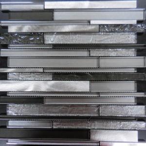 AL3200 TRANSCENDENT MULTI WIDTH SERIES RANDOM BRICK GLASS AND METAL