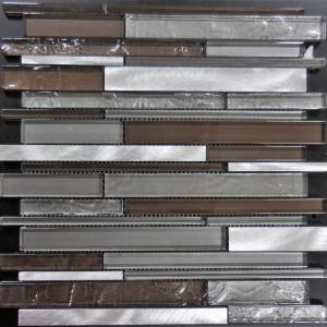 AL3300 TRANSCENDENT MULTI WIDTH SERIES RANDOM BRICK GLASS AND METAL