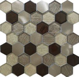 AL4563 HEXAGON METALLIC FABRIC
